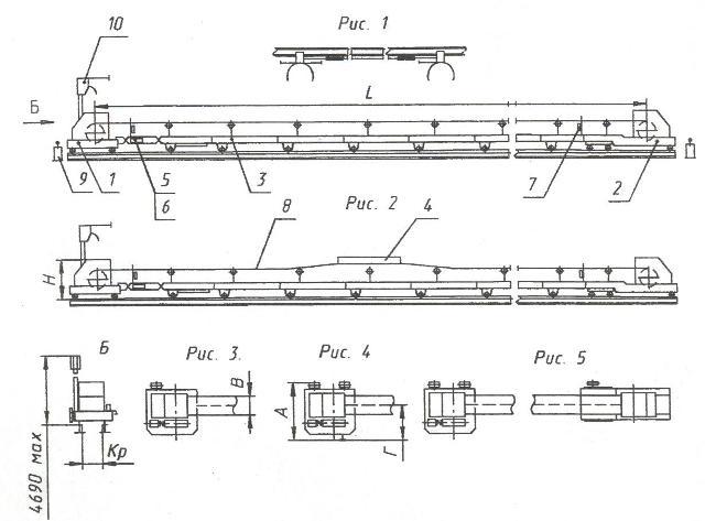 1. Приводная станция (в сборе или разобранная в пределах, приемлемых для транспортирования железнодорожным...